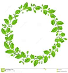 leaves clipart circle round frame vector leaf border banner rounded summer background cliparts