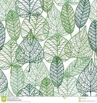 Green Leaves Seamless Pattern Stock Vector - Image: 43620016