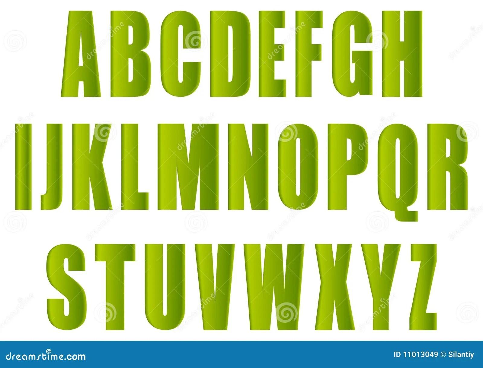 green letters stock illustration