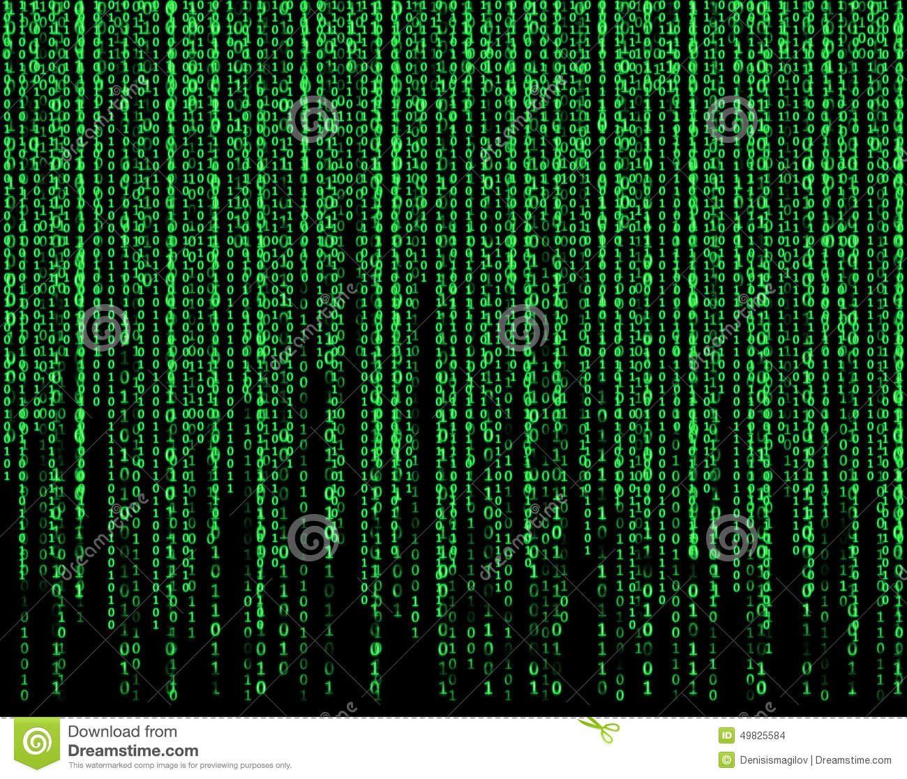Matrix Falling Code Wallpaper Download Green Matrix Stock Illustration Image 49825584