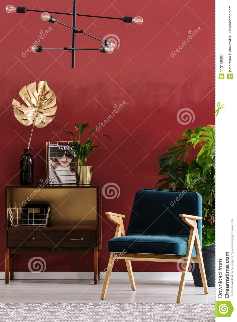 green and red living room sectional design stock image of decor 113158307