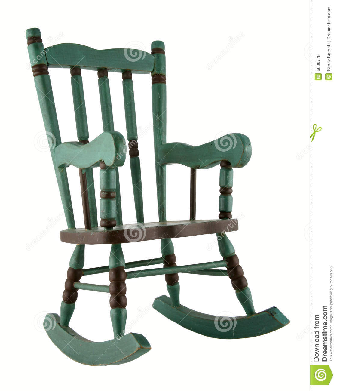 green rocking chair windsor arm chairs royalty free stock photos image 6030778
