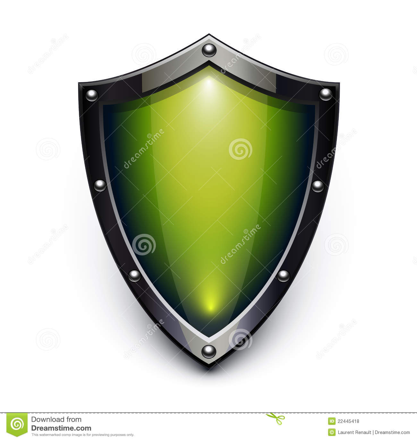 Green security shield stock vector Illustration of symbol  22445418