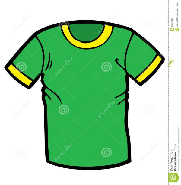 Green T Shirt Cartoon Stock Illustration. Illustration Of