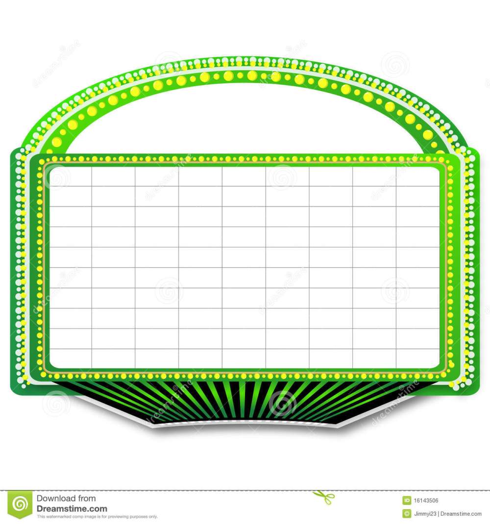 medium resolution of green theater marquee sign