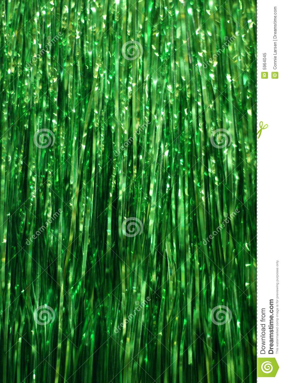 Green Tinsel Background Royalty Free Stock Photo Image