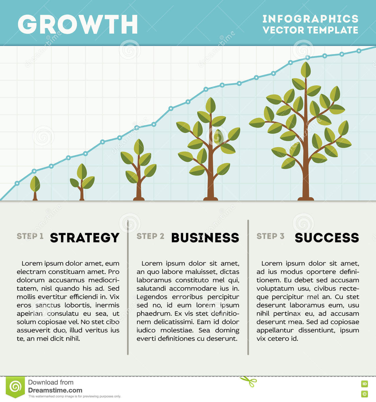 hight resolution of green tree and plant timeline diagram infographics vector template business growth concept