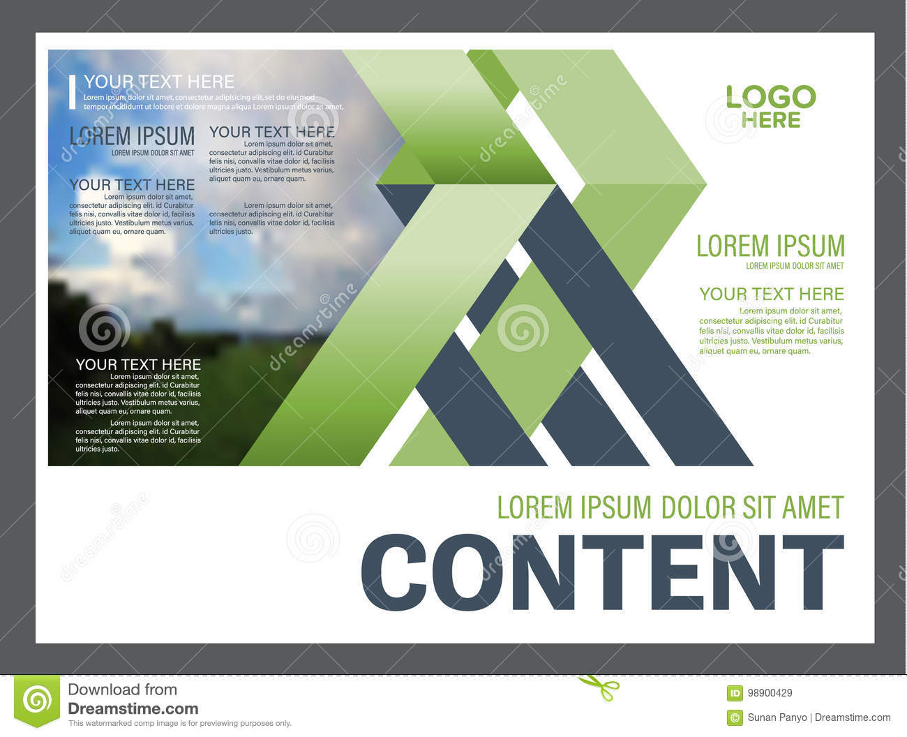 Greenery Presentation Layout Design Template. Annual Report Cover ...