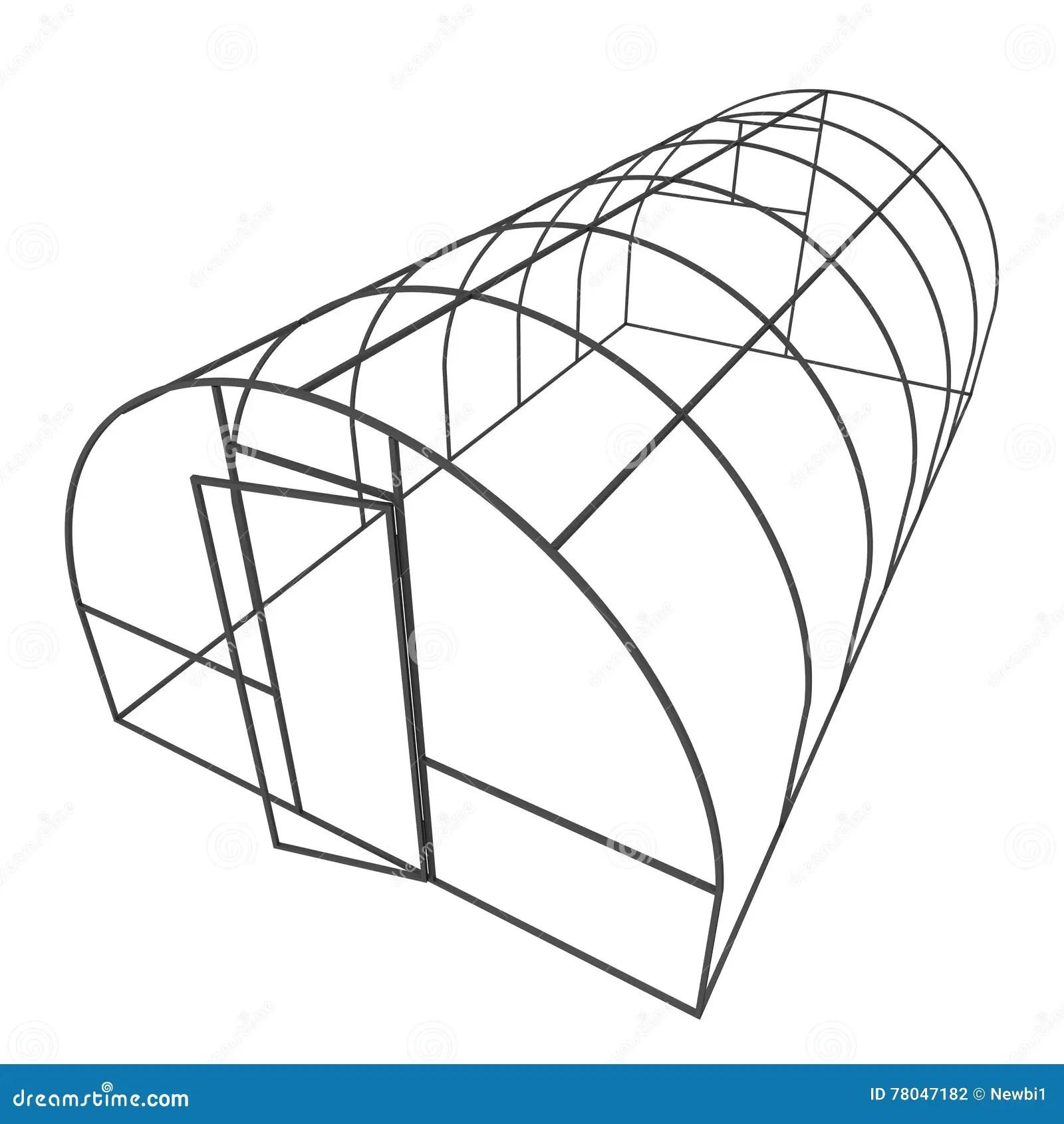 Greenhouse Construction Frame Stock Illustration