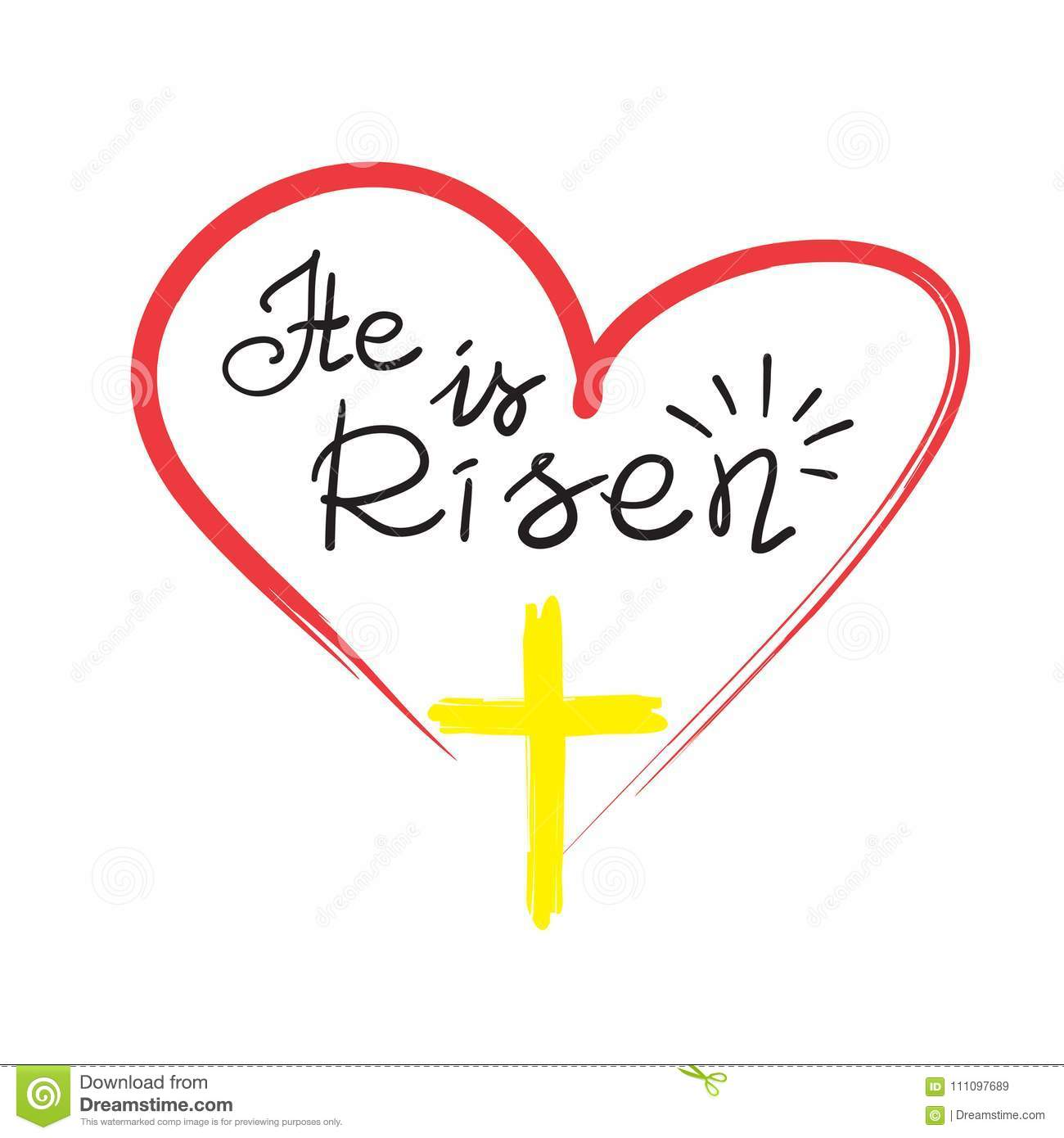 Greeting Card For Easter He Is Risen