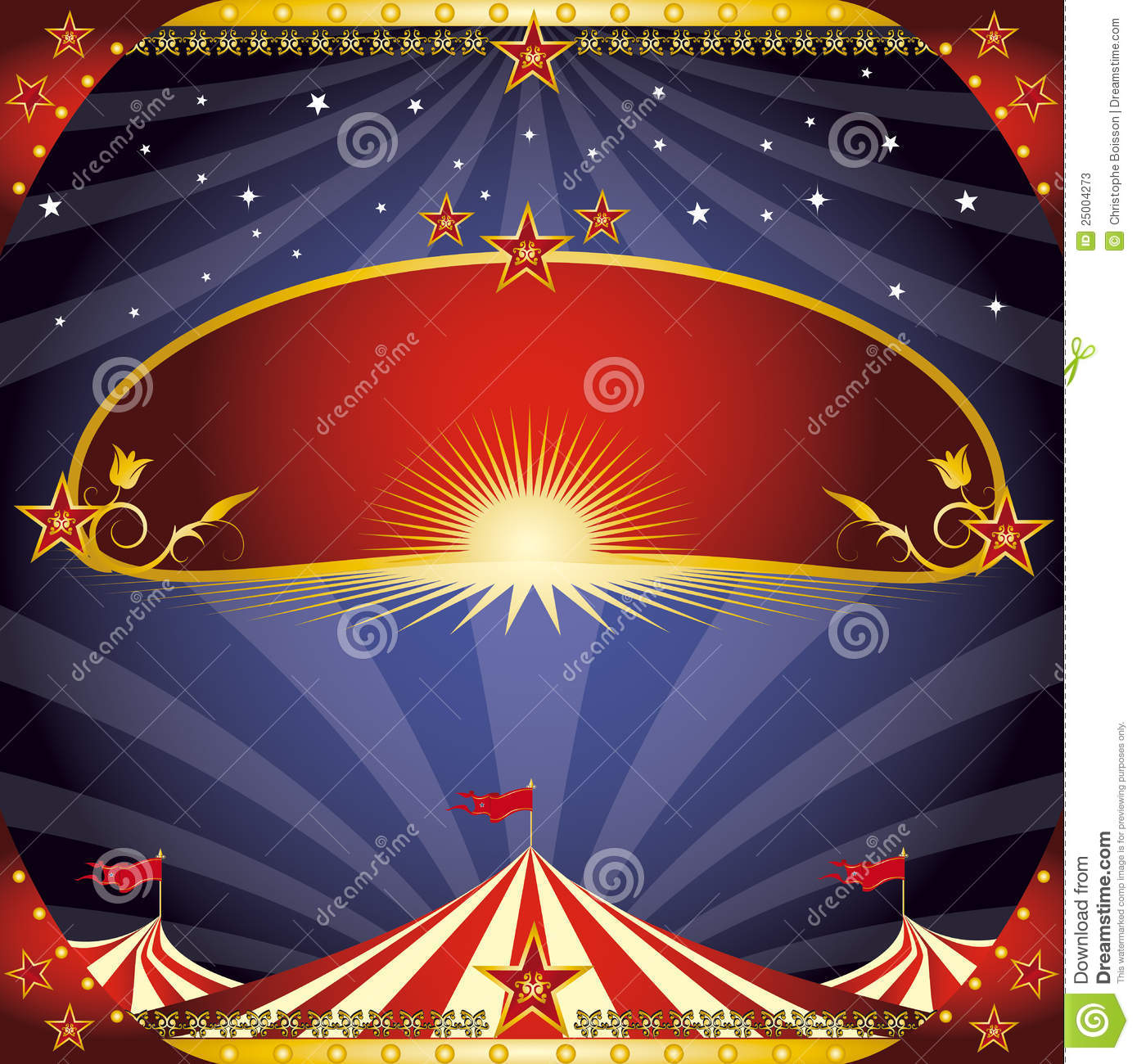 Greeting Circus Flyer Stock Photos Image 25004273