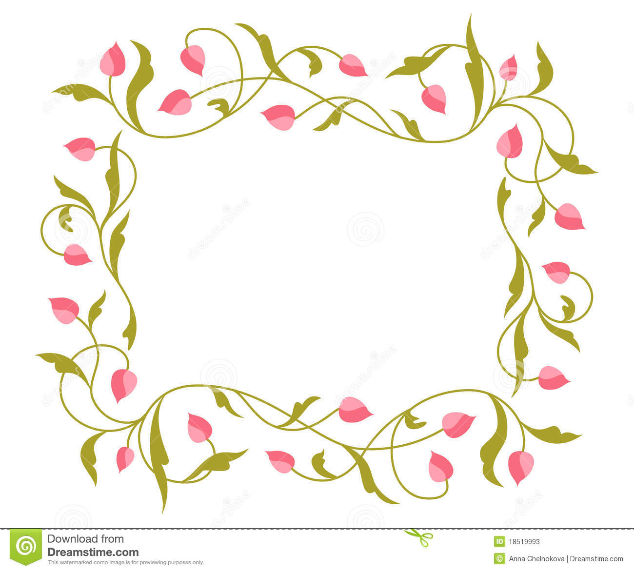 Greetings Card With Floral Pattern. Stock Vector