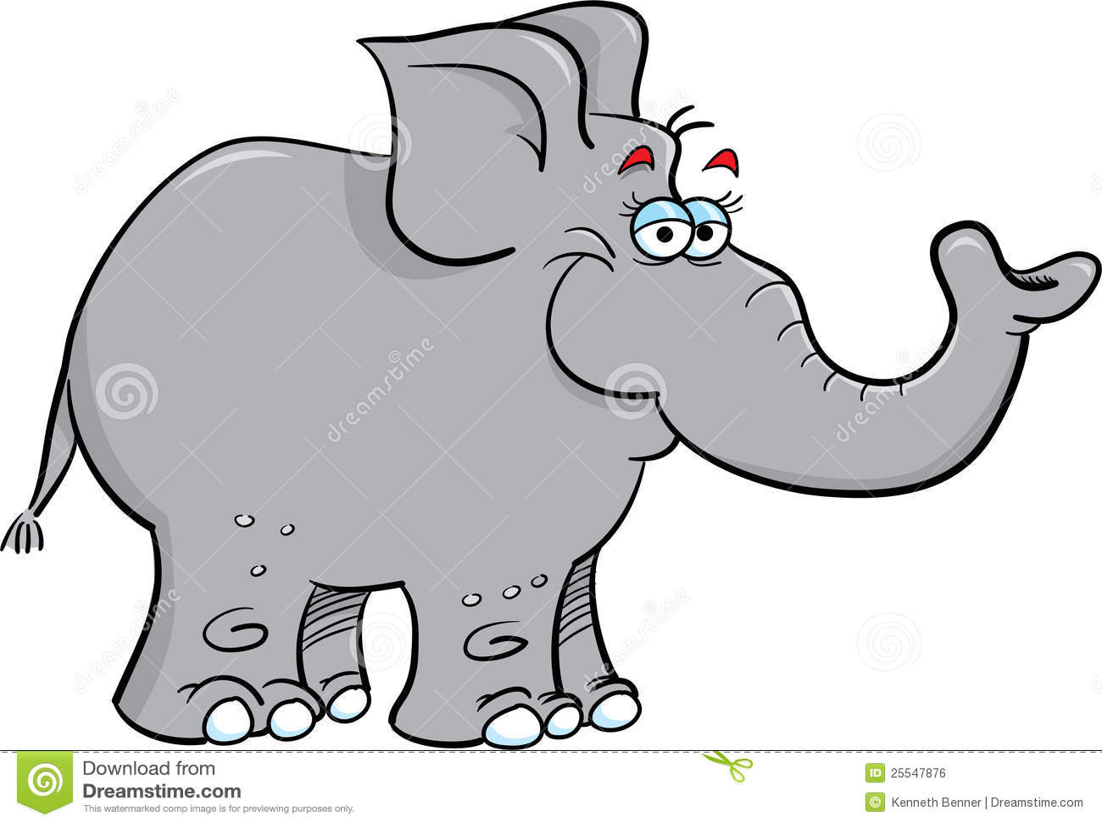 Grey Elephant Stock Vector Illustration Of Animal Tree