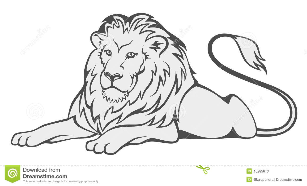 Grey Lion Stock Vector Illustration Of Beast Icon Lays