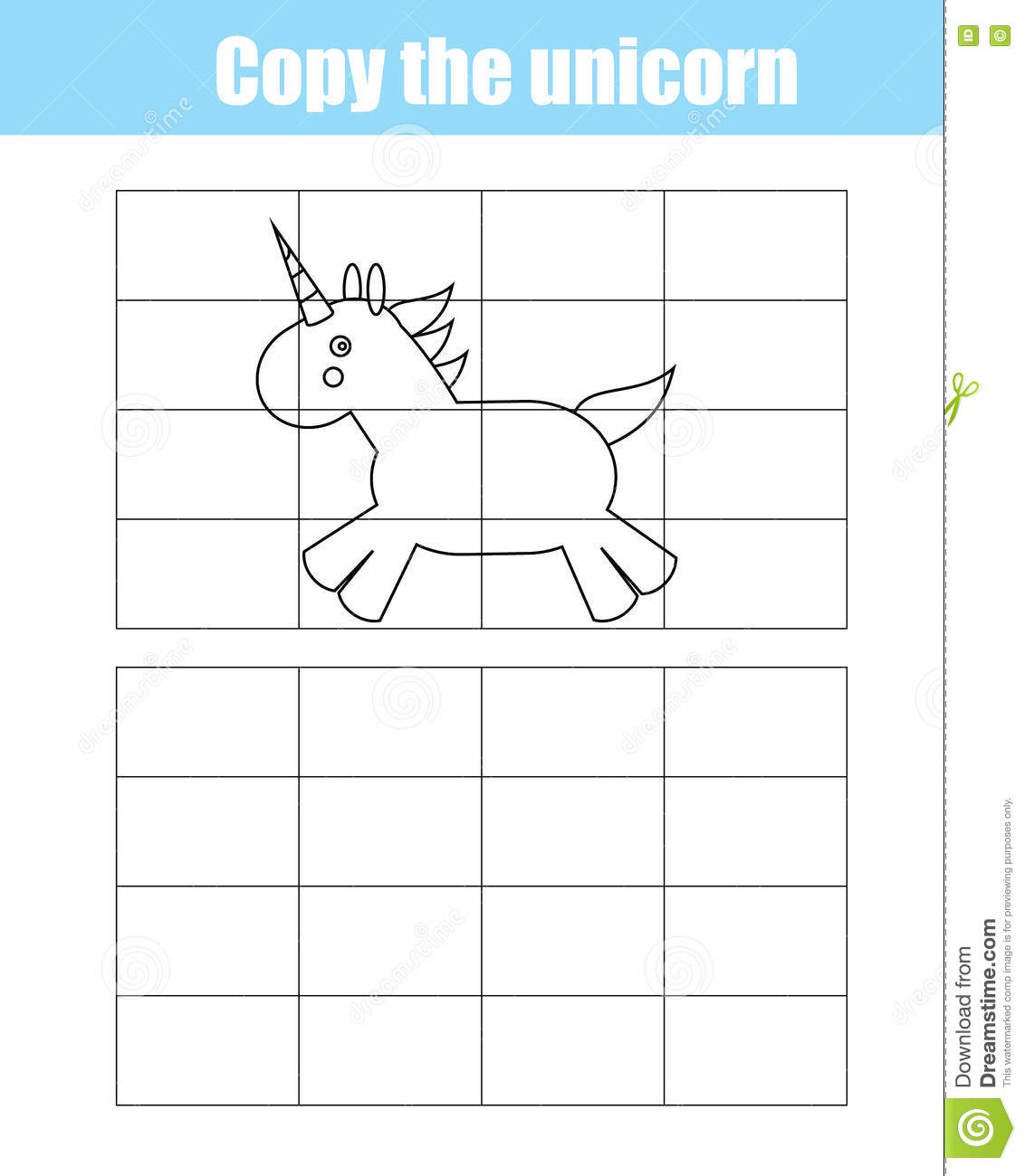 Grid Copy Children Educational Game Drawing Kids Activity