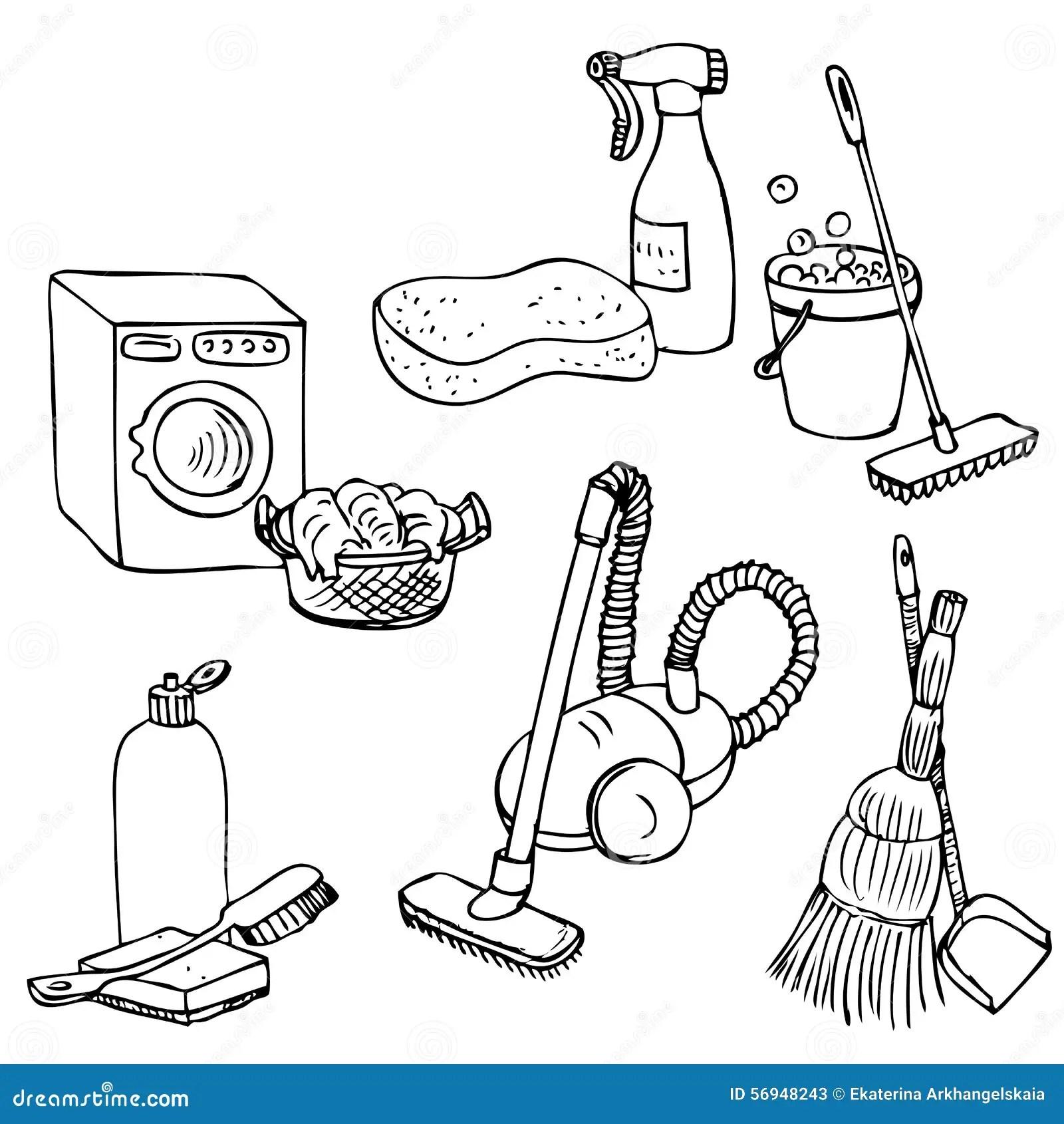 Griffonnage Regle Pour Le Nettoyage A La Maison