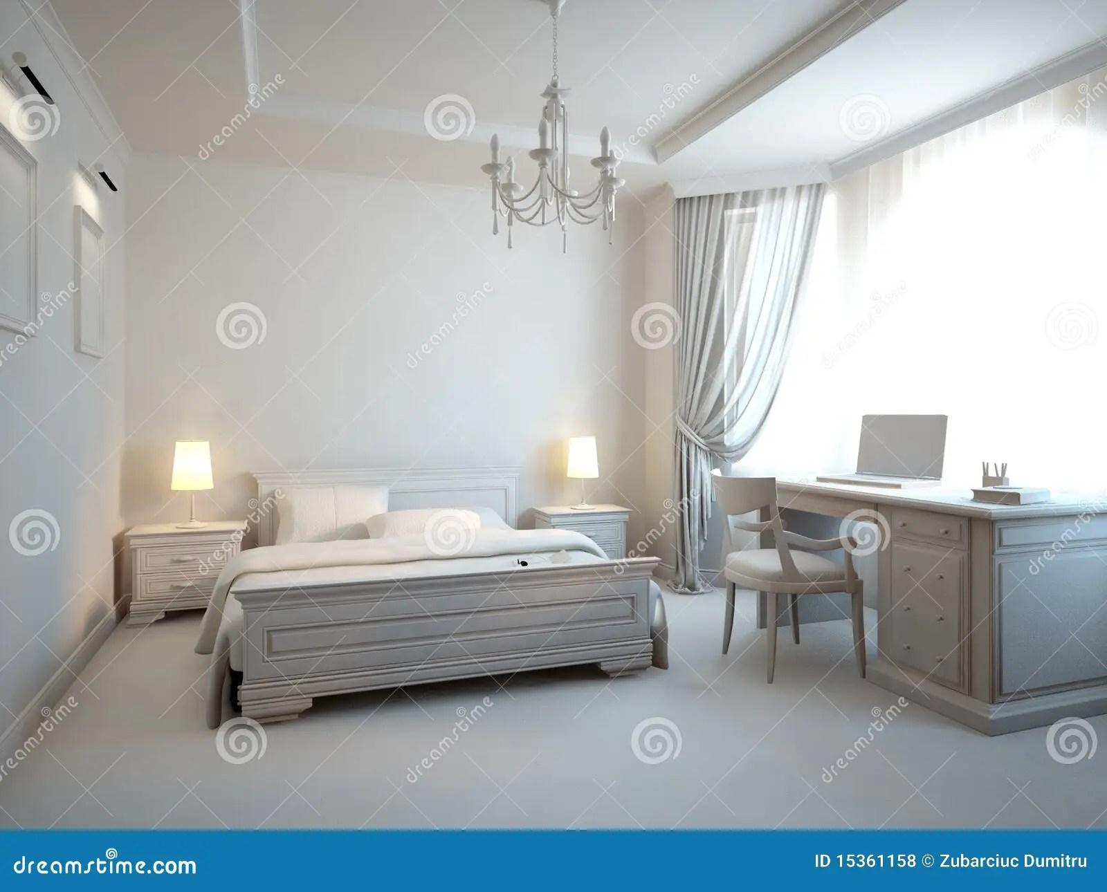 Grijze Slaapkamer Royaltyvrije Stock Fotos  Afbeelding