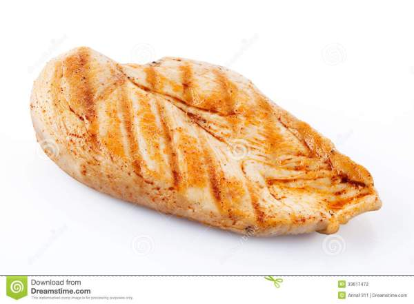 grilled chicken breast with clipping