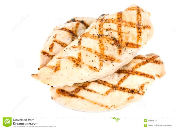 grilled chicken breasts isolated