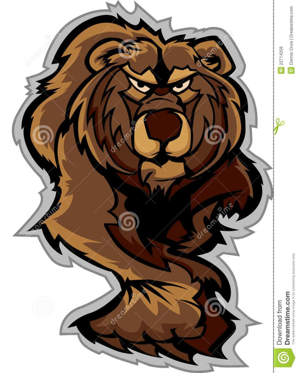medium resolution of grizzly bear mascot body prowling