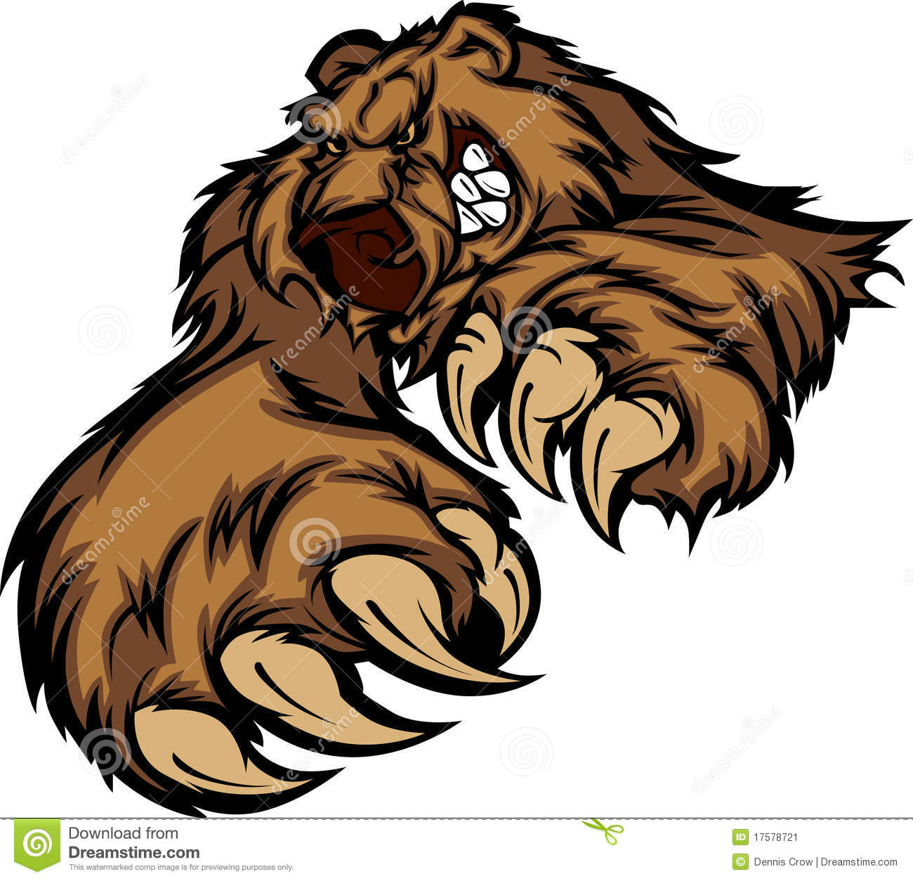 hight resolution of grizzly bear mascot vector logo