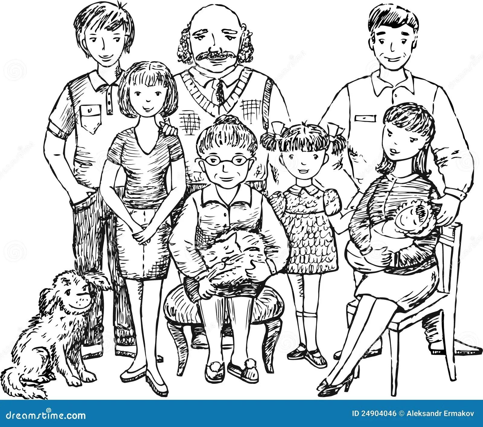 Gro E Familie Lizenzfreies Stockbild