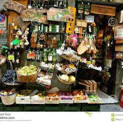 Kitchen Goods Store Cabinets Lights Grocery Shop In Italy Editorial Image - Image: 21201530