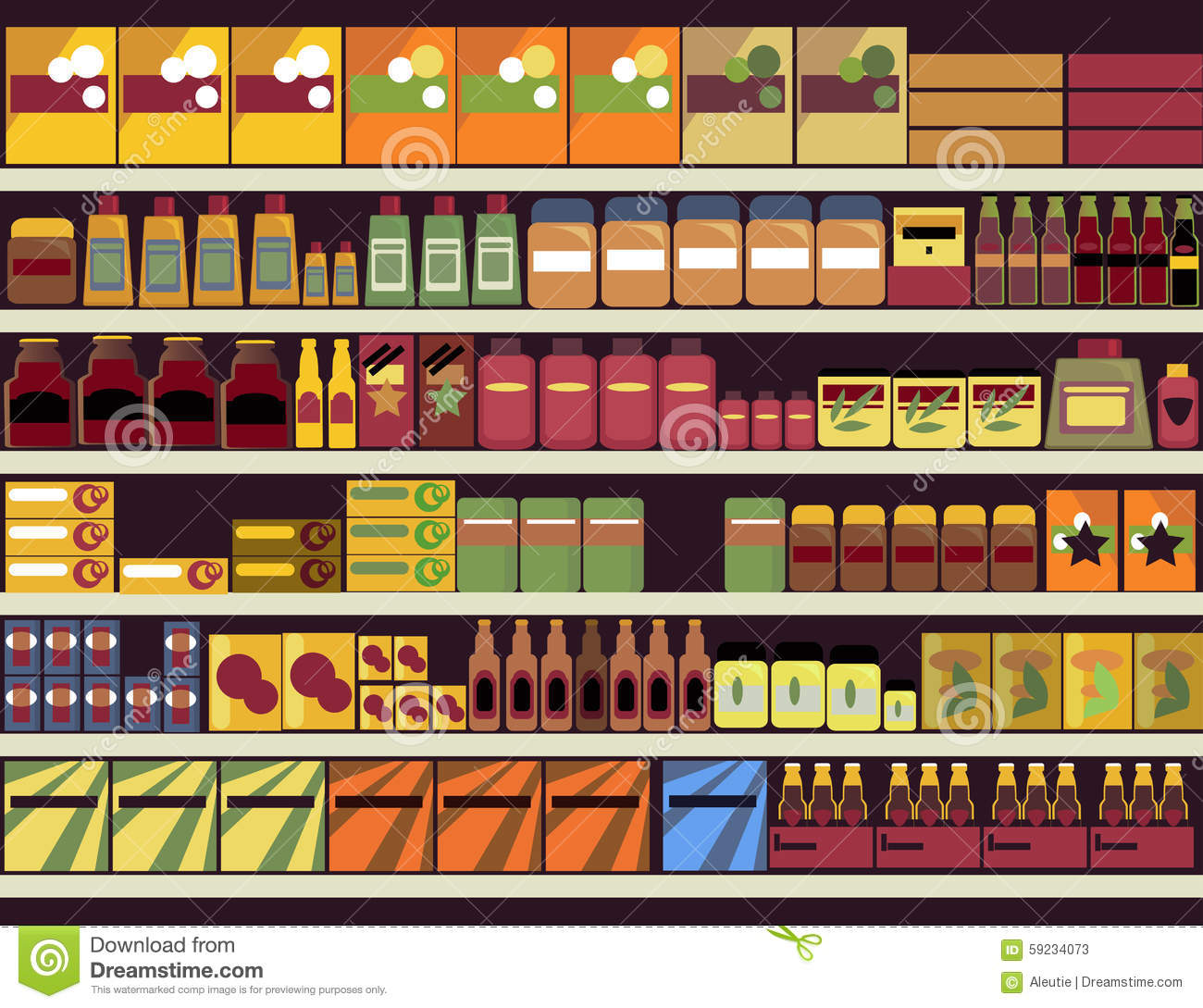 grocery store background stock