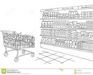 Supermarket Clipart Black And White