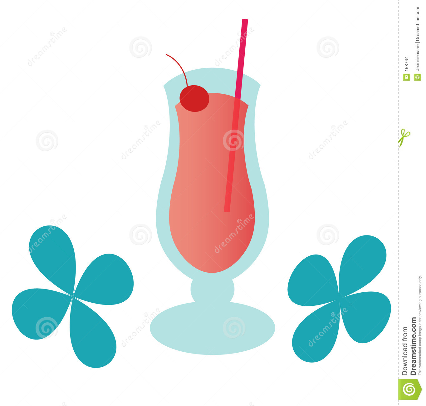 hight resolution of groovy strawberry daiquiri illustration