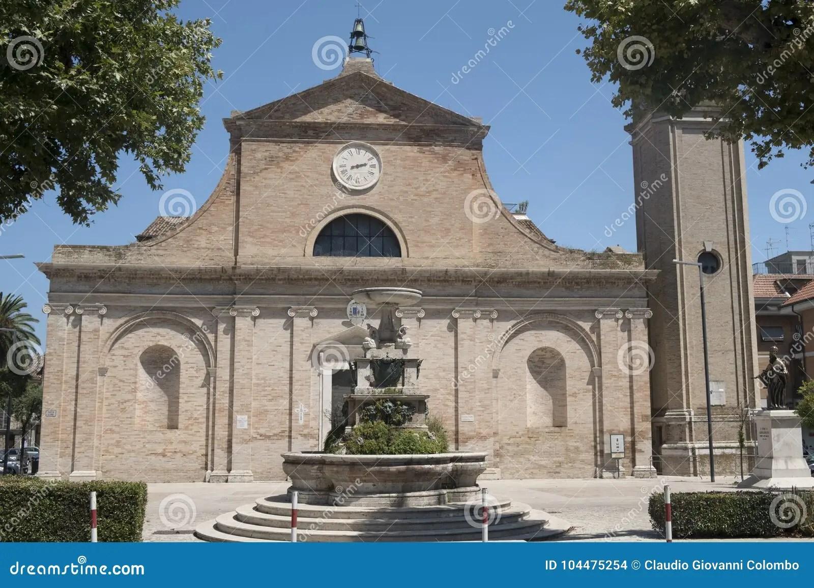 Grottammare Ascoli Piceno Marches Italy Church Stock