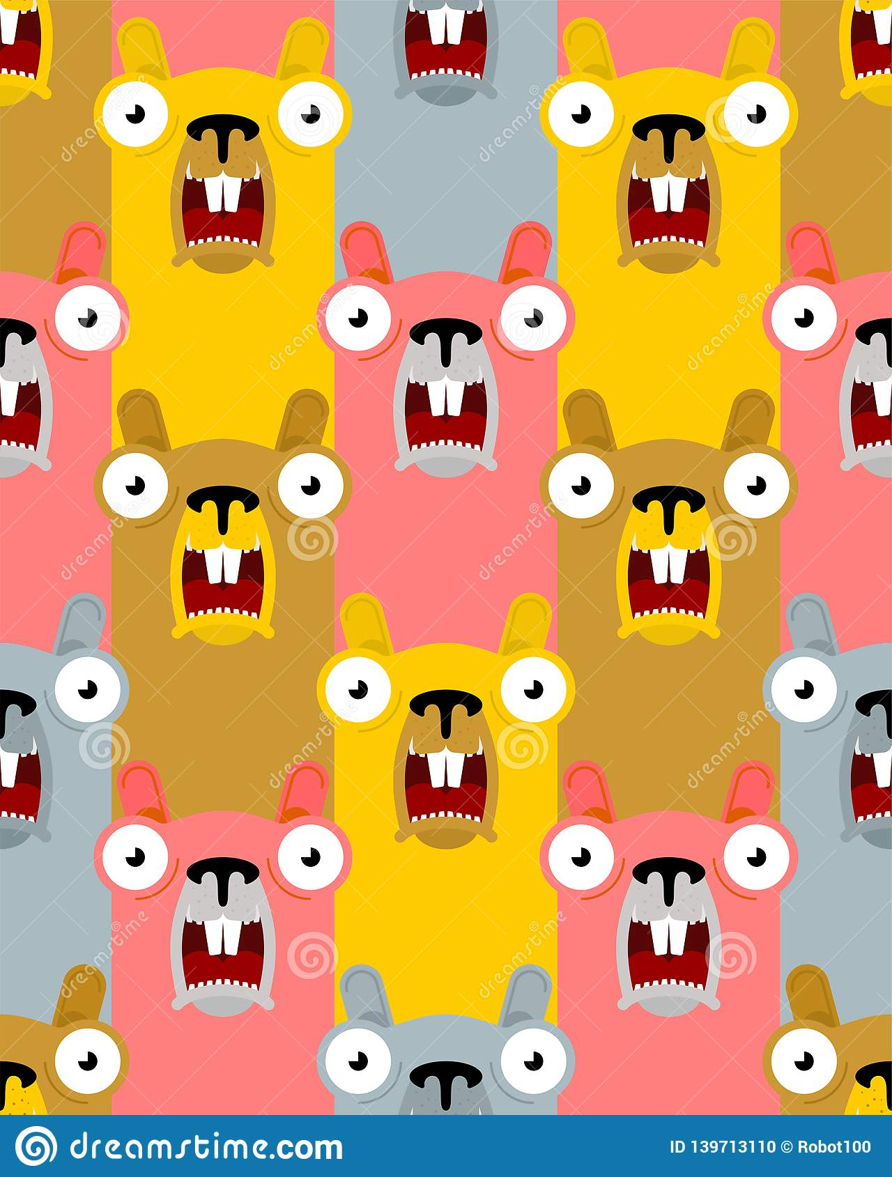 Groundhog Day Pattern Seamless Marmot Background