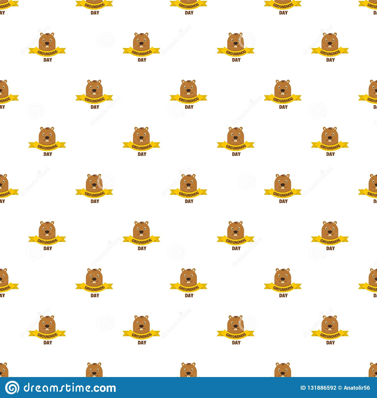 Groundhog Day Pattern Seamless Vector Stock Vector