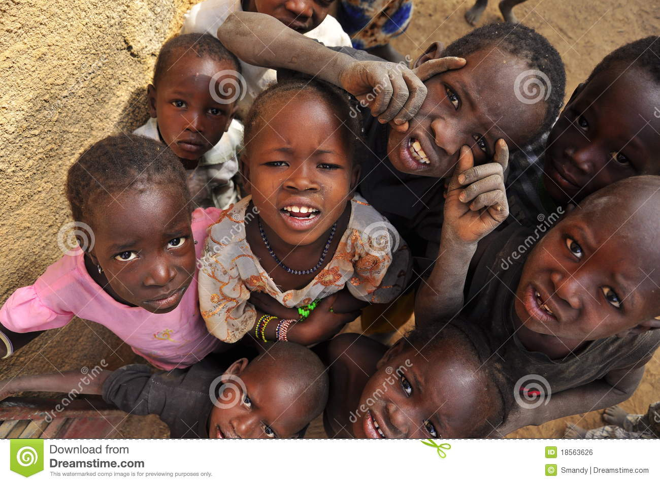 Cute Little Girls Laughing Wallpaper Group Of African Children Smiling Editorial Photo Image