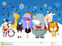 Group Of Animals Singing Stock Photography - Image: 27844892