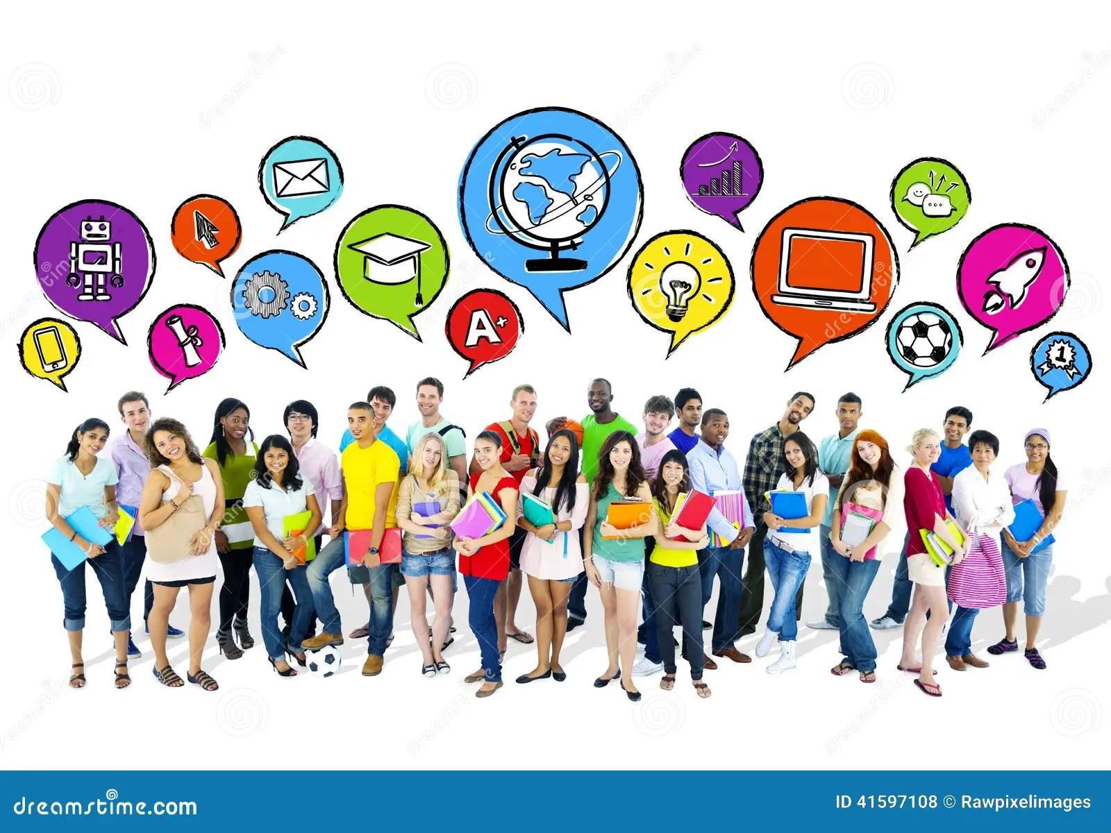 Group Of Aspiring High School Students Stock Photo  Image