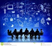 Group Of Business People Sharing Ideas Royalty Free Stock