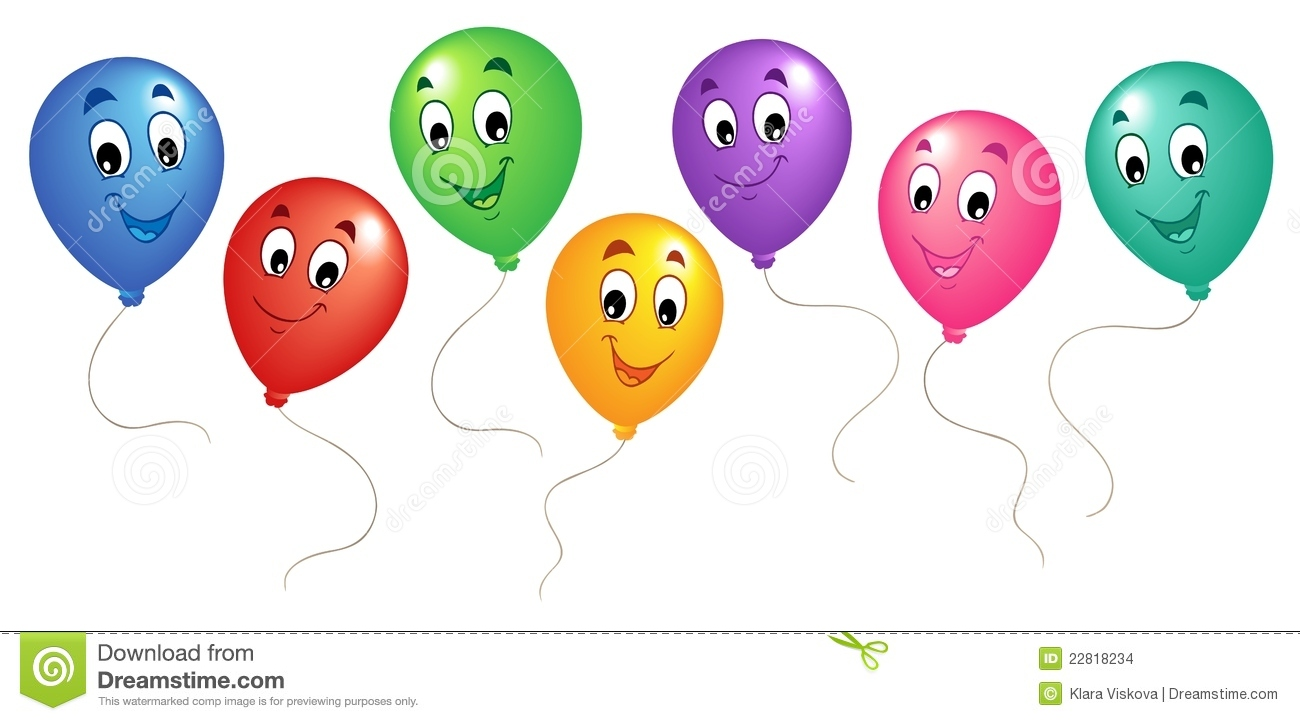 Group Of Cartoon Balloons 3 Stock Images Image 22818234