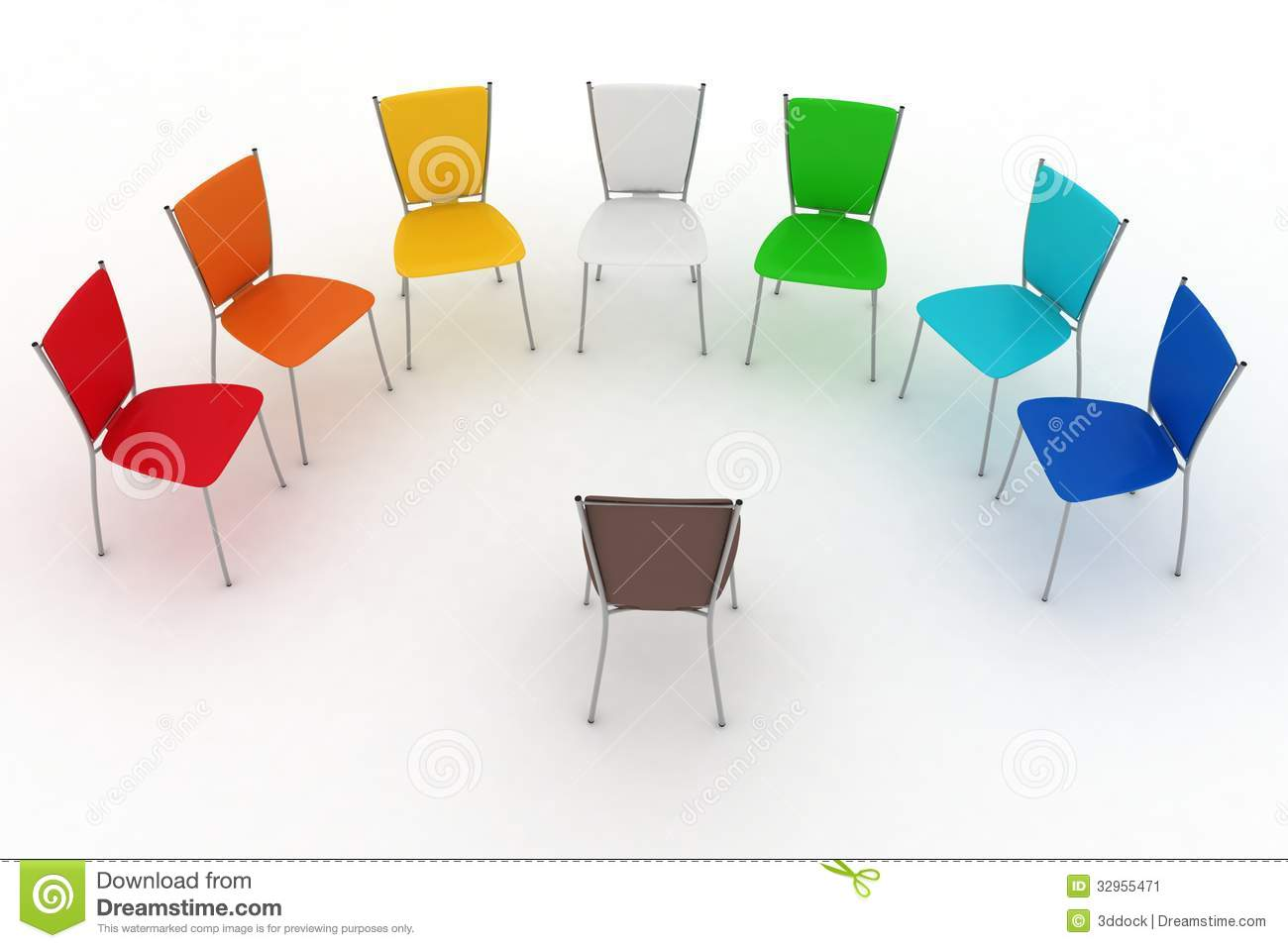 half circle chair ameristep blind group of chairs costs a round stock image