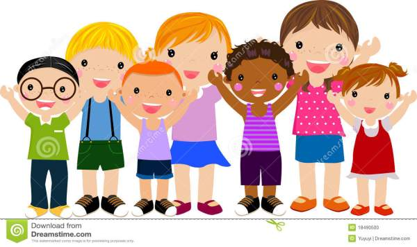 group of children stock vector