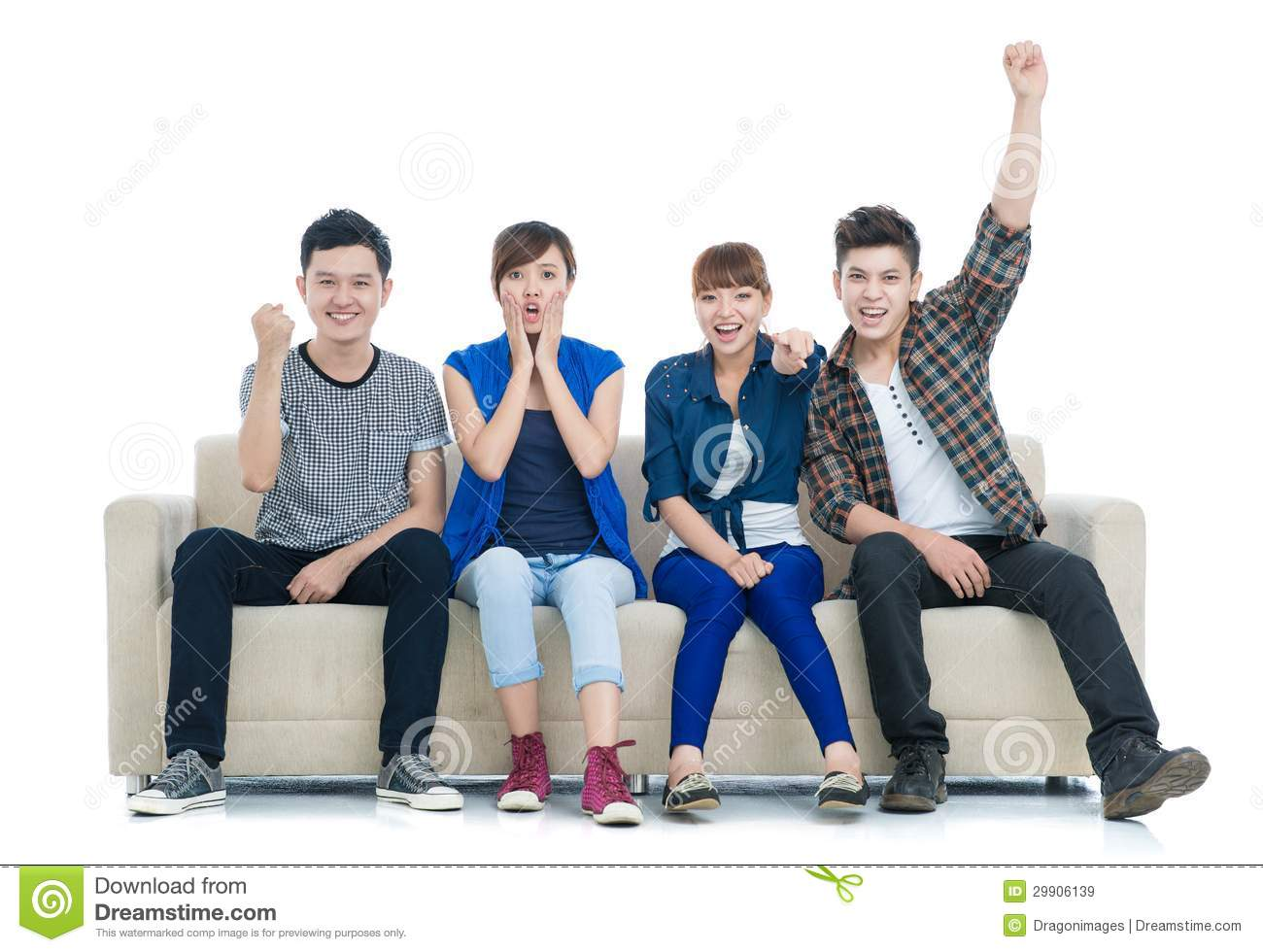 Sad Animation Wallpaper Excited Teens Royalty Free Stock Images Image 29906139