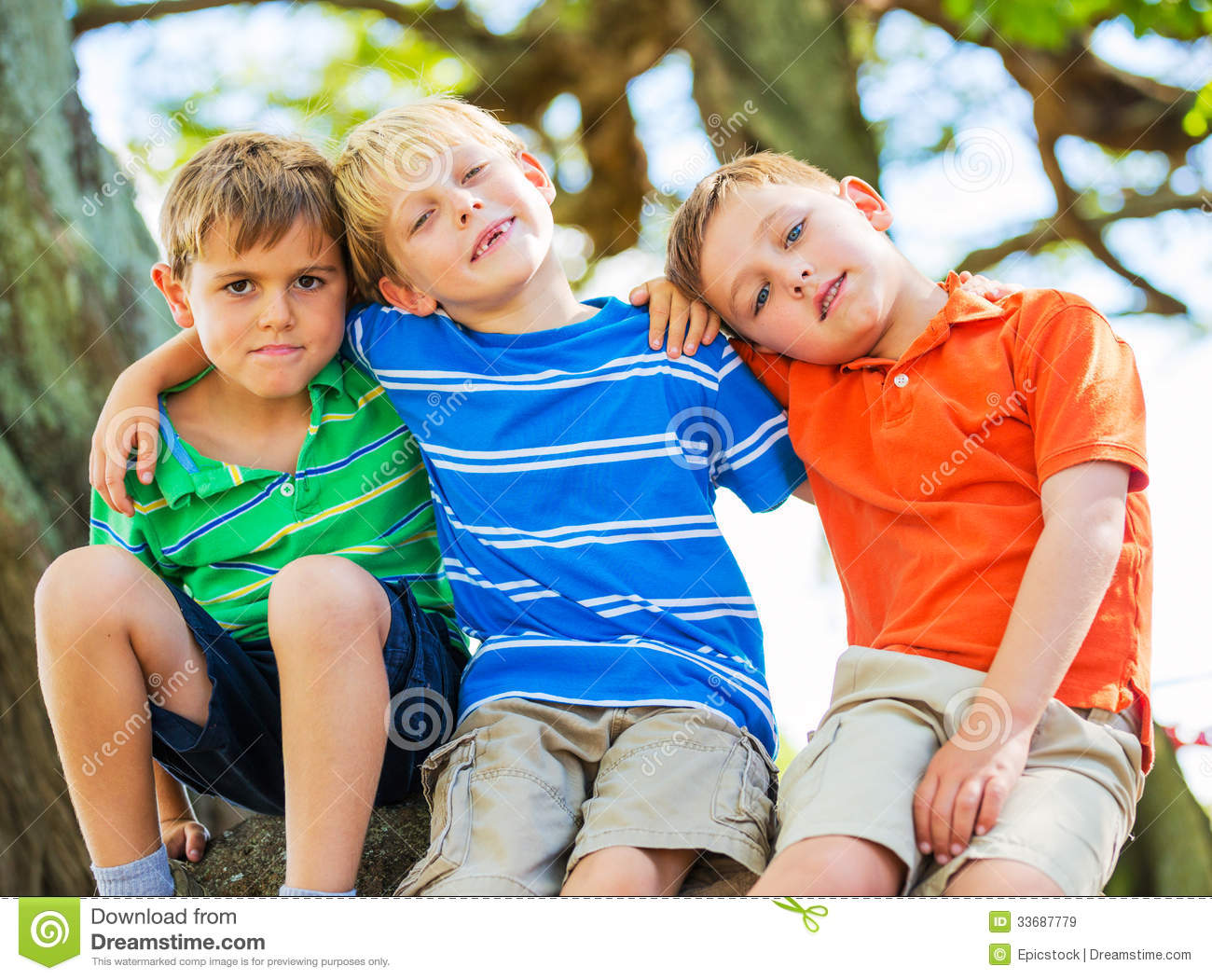 Group Of Friends Young Kids Royalty Free Stock Images