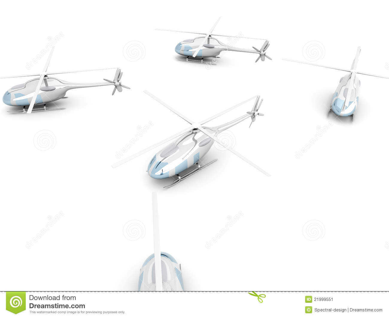 A Group Of Helicopters Stock Illustration Illustration Of