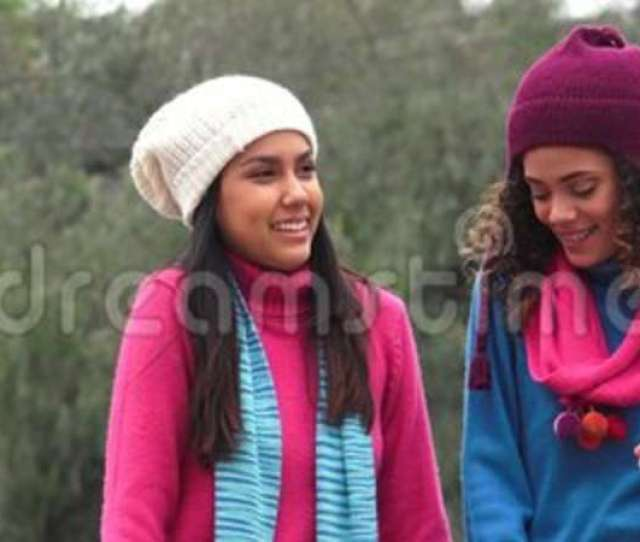 Latina Girls Having Fun Wearing Sweaters In Cold Stock Video Video Of Cold Happiness