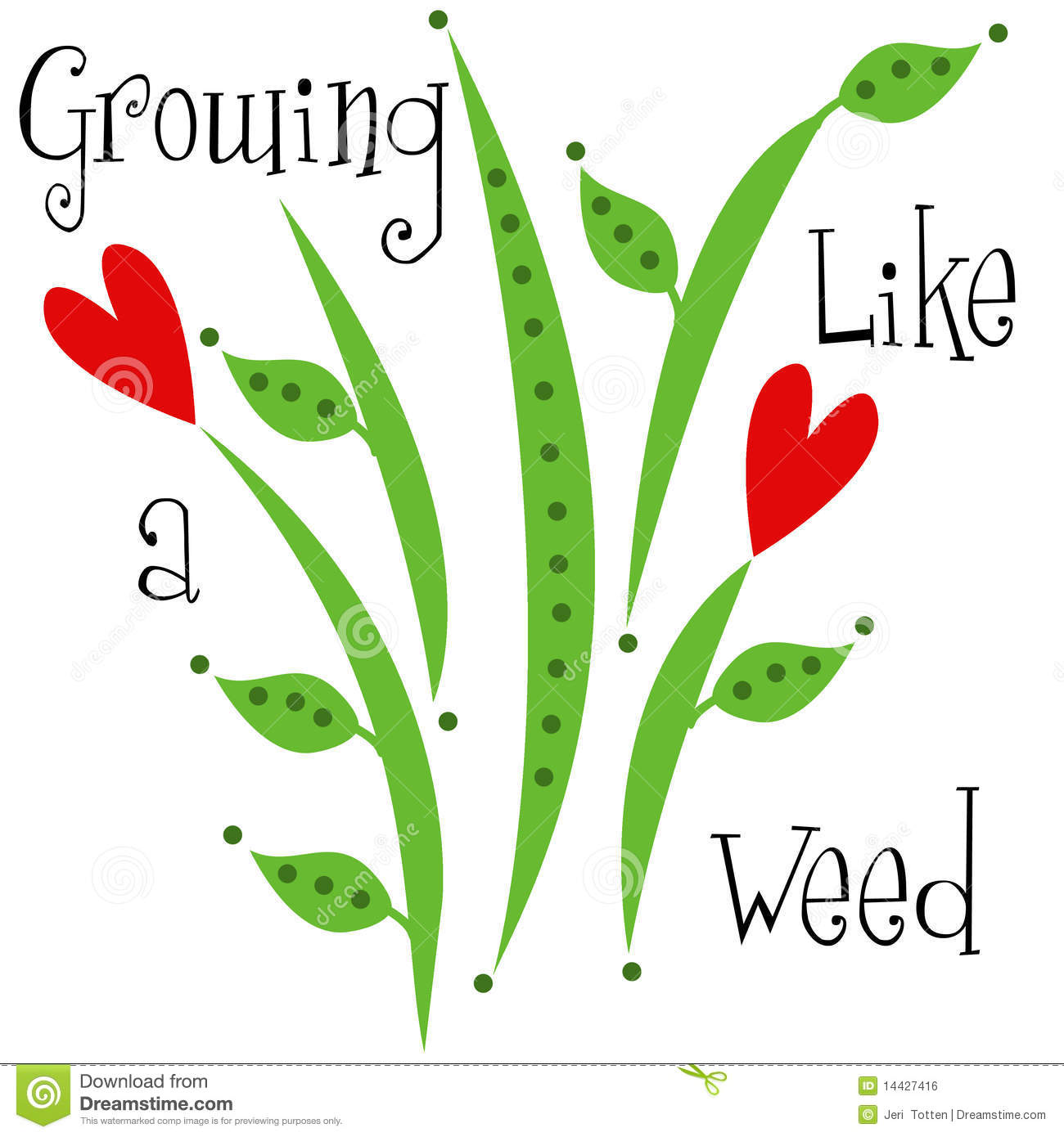 Growing Like A Weed Children's Design Royalty Free Stock