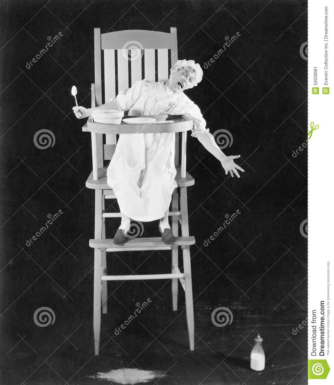 adult baby high chair modern armchair design grown man sitting in a pretending to be