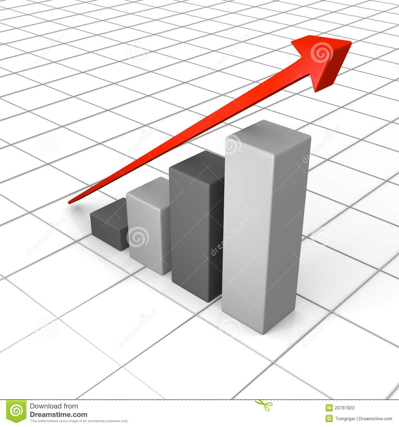Growth Chart With Linear Trend Line Stock Illustration