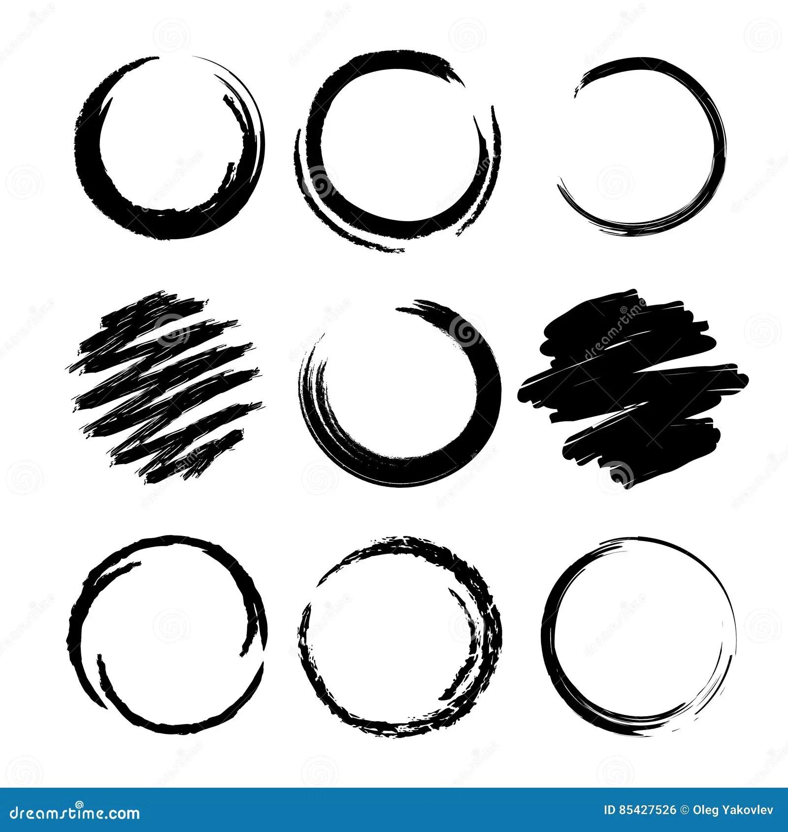 hight resolution of grunge circle brush strokes