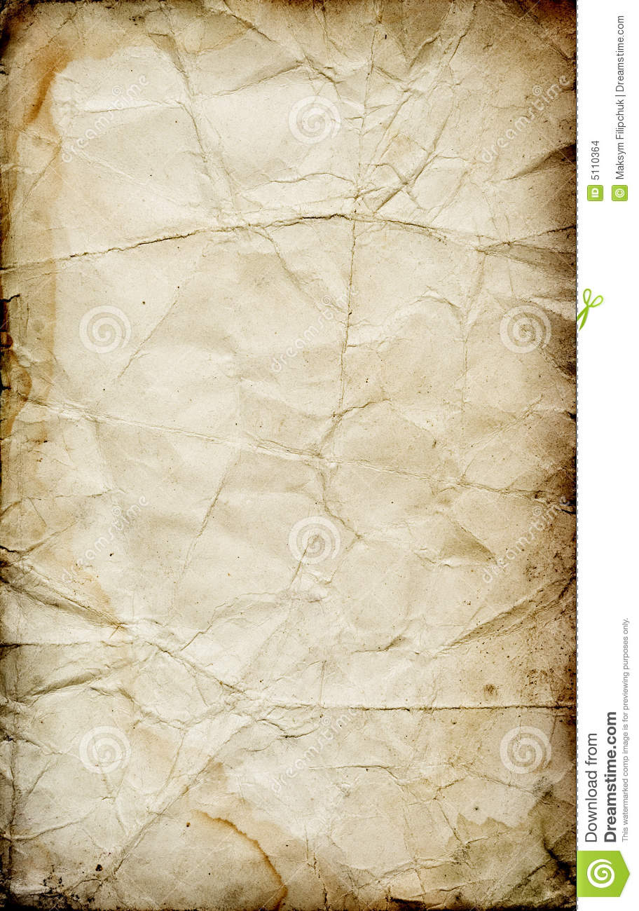Grunge Folded Paper Texture Stock Images  Image 5110364
