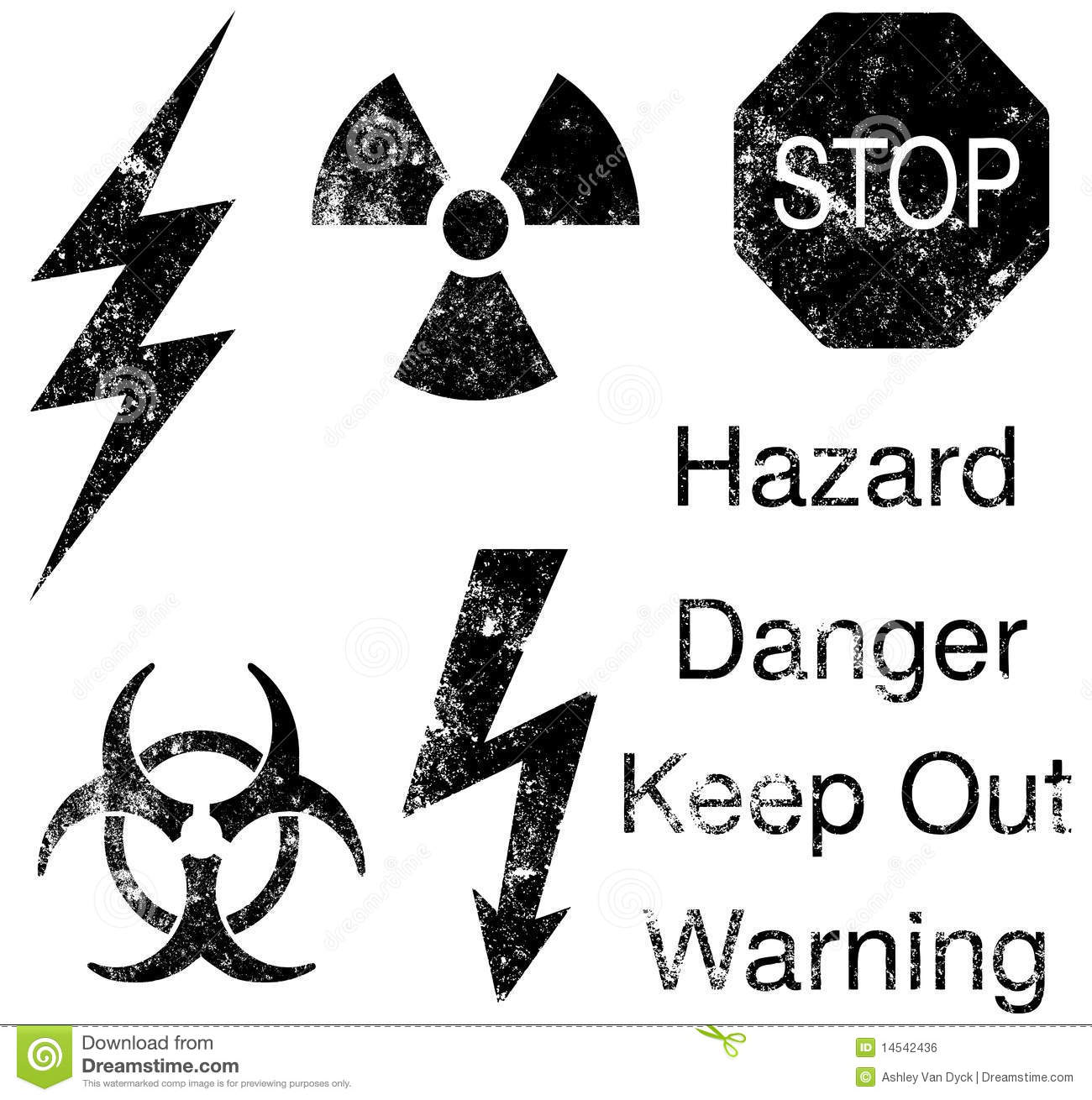 Industrial Hazard Symbols Stock Photo